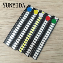 YUNYIDA 100pcs=5 colors x 20pcs SMD 5730 5630 LED Diode Assortment KIT LED Diode Kit Green / RED / White / Blue / Yellow(China)