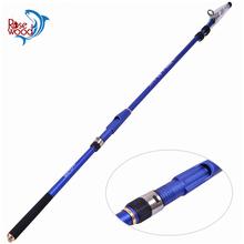 Telescopic Fishing Rod 3m 3.6m 4.5m Travel Boat Fishing Rod Telescopic Saltwater Shore Jigging Rod Spin Rods FREE SHIPPING