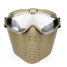 Anti-Fog Ventilated Tactical Hunting Paintball Full Face Electric Fan Gas Mask With Goggle Outdoor CS War game Airsoft Goggles