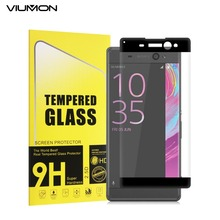 3D Curved Edge Full Tempered Glass For Sony Xperia XA Screen Protector For Sony Xperia X Performance XP XA Ultra Gold White(China)