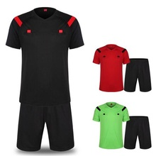 High quality football referee suit Soccer Sets soccer jersey