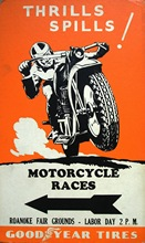 Motorcycle Bike Race Thrills Spills Vintage Retro Kraft Poster Decorative DIY Wall Stickers Home Bar Art Posters Decoration Gift(China)