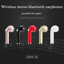 2017 Newest Bluetooth Wireless super mini dhx i9 Earphone with Microphone Steroe Sport Headset Universal for android iphones(China)