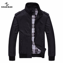 Men's casual black jacket simple British style plaid lining new fall 2016 men's business brochure designer aviator jacket 1235