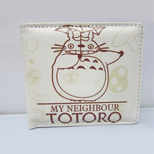 2016 HOT sold Simple and Brifef Wallet PU Leather Cartoon Short Purse Totoro / One Piece/Naroto/League of Legends Student Purse