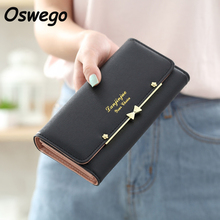 Korean Style Women Wallet Ladies Purse Clutch Large Capacity Metal Bow Hasp Pouch Female Long Money Card Holder Bag billetera