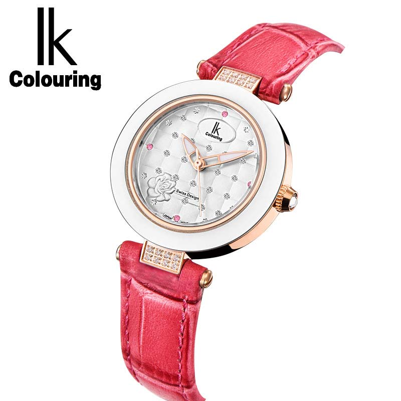 IK ceramic quartz watch fashion casual waterproof Ladies Watch Strap student table female<br>