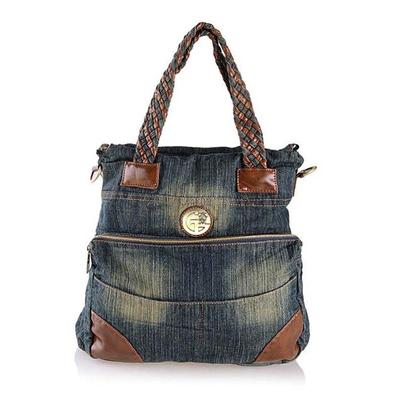 2017 Designer Denim Handbags Large Women Messenger Bags Jean Bags Weaving Big Hobos Ladies Travel Hand Bags Tote Cross Body Bag<br><br>Aliexpress