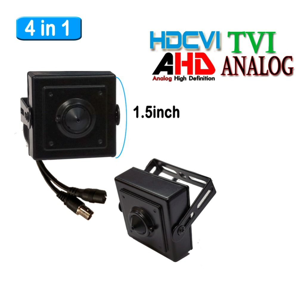 4in1 HD mini Camera 3.7mm Lens CCTV 2.0MP 1080P CVI AHD TVI Analog CVBS Mini-Box Color OSD Camera<br>