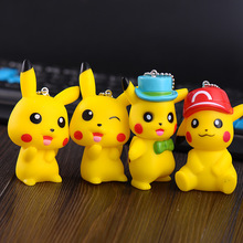 2017 New Pocket Monsters Figures Pikachu Keychain Toys Anime Cartoon Cute Montre Key Bag Pendants Dolls 1 - Lehaha Golden Childhood Store store