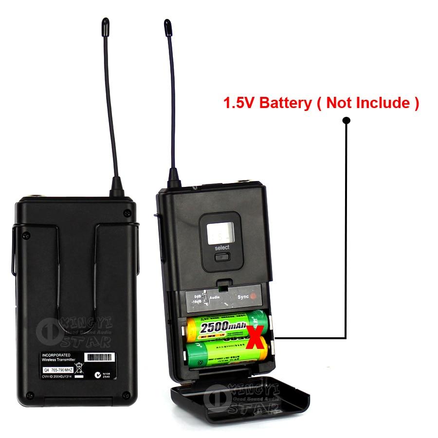 Professional SLX4 Wireless Headworn Microphone Headset Mic For Karaoke KTV Voice Recording Earhook Cordless Bodypack Transmitter