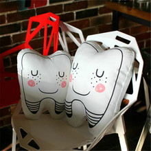 1pc High Quality 3D Teeth Shaped Pillow Cushion Baby Sleep Pillow Toy Washable Tooth Pillows Creative Gifts Children's Gifts(China)
