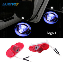 2PCS LED Car Door Welcome Light Courtesy Laser Ghost Shadow Logo Projector Light For Jaguar XJ XJL X351 X TYPE PLATE 54