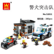 Interesting children's toy bricks, compatible with Legoes police commandos, helicopter models, children's toy blocks, toys(China)