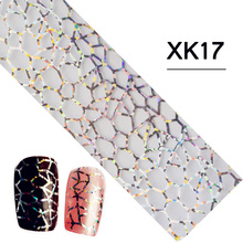 1pcs NEW Beauty 100cmx4cm Nail Art DIY Glitter Strip Line Designs Sticker Decals Nail Foils Transfer Polish DIY Tools TRSTZXK17