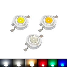 100Pcs/lot 1W High Power LED lamp 110-120LM Emitting Diodes SMD LEDs Bulb light Chip for 3W - 18W Downlight Spotlight(China)