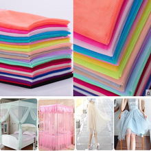 160cm*2m/Lot Soft Hexagonal Net Yarn Encryption Gauze Polyester Mesh Tulle Fabric DIY Sewing Tutu Party Wedding Dress Patchwork