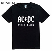 2017 New Camisetas AC/DC band rock T Shirt Mens acdc Graphic T-shirts Print Casual Tshirt Men O Neck Hip Hop Short Sleeve