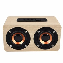 MVpower Wooden Speaker Bluetooth Sound System Portatil Speaker Amplifier Music Center for iOS Andrew Computer PC Laptop(China)