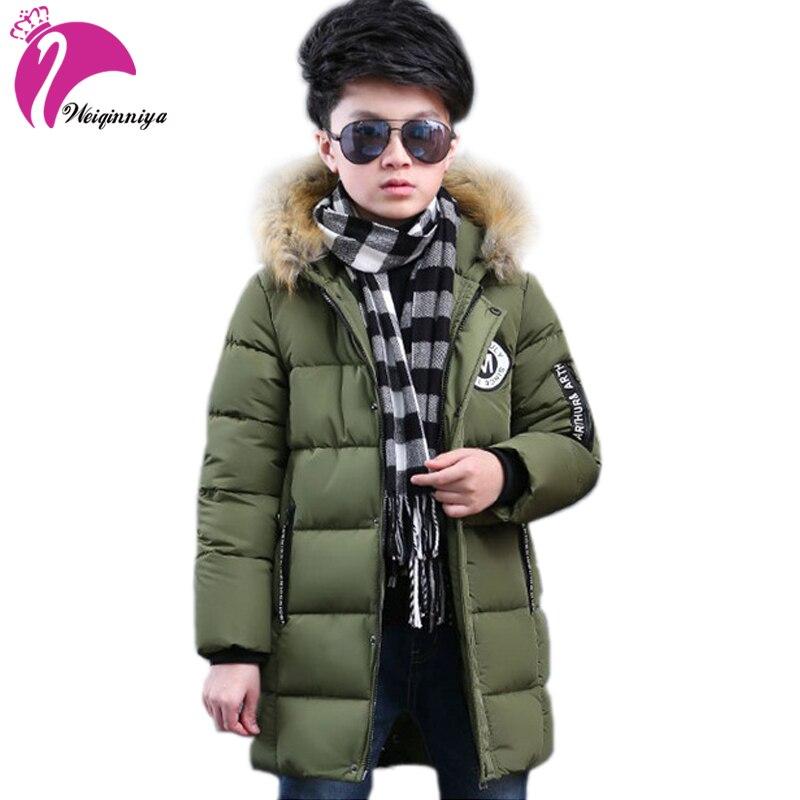 Winter Jacket For Boy Winter Fur Coat Thick Duck Down Outerwear Childrens Down Jacket Cotton Padded Down Jacket BoyÎäåæäà è àêñåññóàðû<br><br>