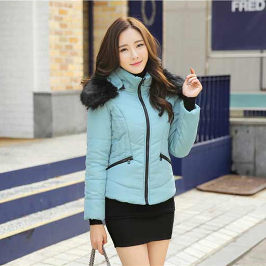 Autumn Winter Jacket Women Thicken Slim Cotton-padded Fur Hooded Jacket Female Down Cotton Wadded Jacket Winter Coat Women ParkaОдежда и ак�е��уары<br><br><br>Aliexpress