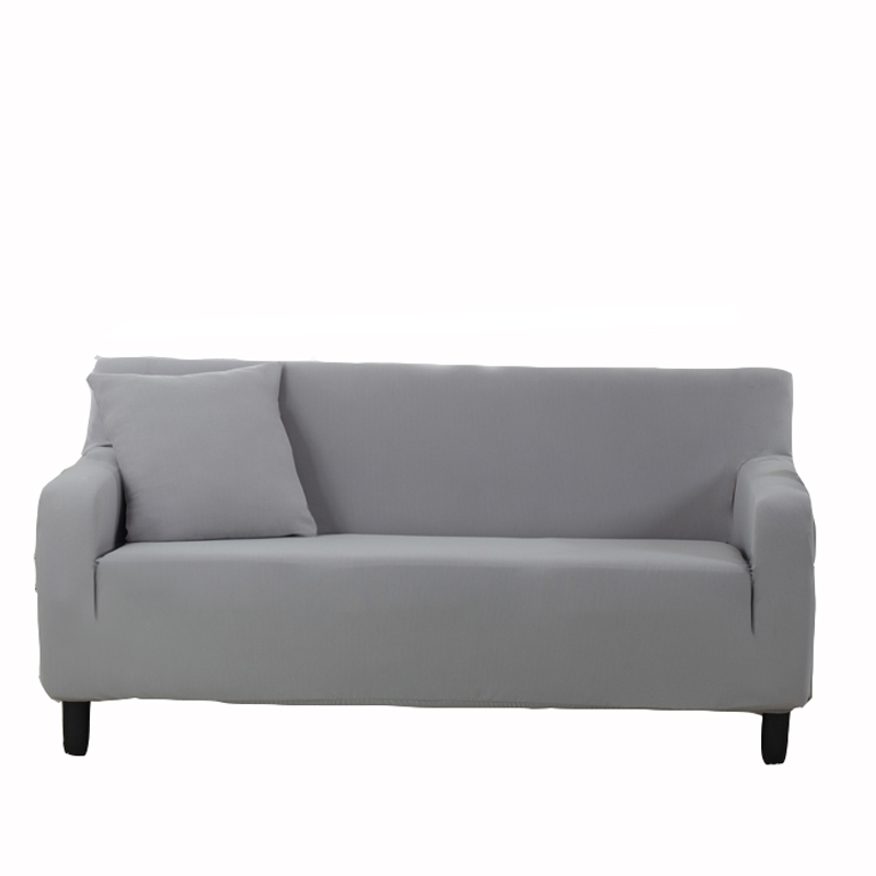 Grey Solid Color Corner Sofa Covers For Living Room Multi-size Couch Sofa  Slipcovers Knitted