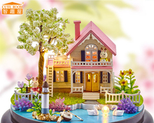 CUTE ROOM Spring Florid Handmade Miniature Furniture DIY Doll house Wooden Toys For Children Grownups Birthday Gift B-021
