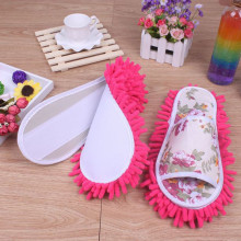 26CM Women Dust Mop Slippers Socks Microfiber House swab swob Slippers Bedroom Shoes cleaning tool on sale(China)