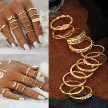 Buy 12Pcs/Set Fashion Vintage Metal Gold Boho Simple Finger Knuckle Rings Sets Women Lady Beach Rings Jewelry for $1.00 in AliExpress store