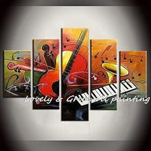 Impression Jean Musical Instrument 100% Hand painted Modern Abstract Oil Painting On Canvas Wall Art Living Room Home Decoration