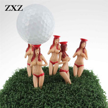 Golf Tees size 75mm(2.95inch) Sexy Bikini Lady Golf Tees Gift Newest Design clubs putter driver Golf Tees(China)