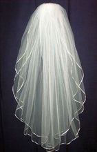 New 2T White Or Ivory Bride Bridesmaid Wedding Dress Accessories Veil acessorio para cabelo vestido de noiva com renda