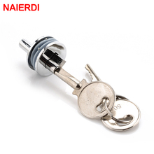 NAIERDI-501 Glass Lock Zinc Alloy Showcase Push Glass Display Cabinet Door Cylinder Locks Sliding Glass Push Door Hardware