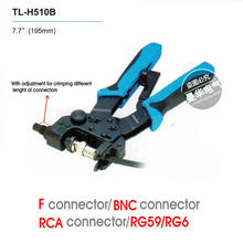 FreeShipping Professional compression crimping tools TL-H510B,Crimping F,BNC,RCA,RG 59, RG6 F type cable
