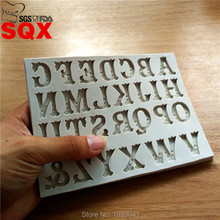 New Arrivals 26 Capital Letters Silicone Bakeware Fondant Cake Decorating Chocolate Mold Pastry Cooking Tools SQ16293