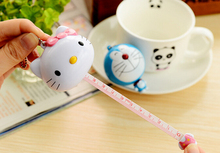 1 Piece Cartoon Kawaii Hello Kitty Doraemon Sewing Retractable Crafts Ruler Tape Measures Cloth Dieting Tailor Party Favor(China)