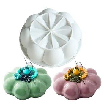 1PCS  White Silicone Non-stick Round Garland Champion Cake Molds Mold For Pans Baking Brownie Chiffon Sponge Cakes Pan