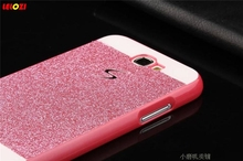 LELOZI Gold / Silver Bling Cover Fashion Girl/Woman Case Glitter Back Hard PC S Line Case For Samsung Galaxy Note 2 N7100 Note2(China)