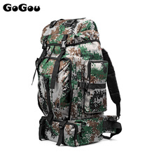 70L Men Camping Waterproof Travel Military Army Bags Outdoor Sport Molle Tactical Rucksacks Camouflage Hiking Backpacks 3colors