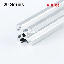 Industrial European Standard 3D Printer Frame Silver Oxide Anodized V Slot Linear Rail Aluminum Extrusion Profile 2020  Series