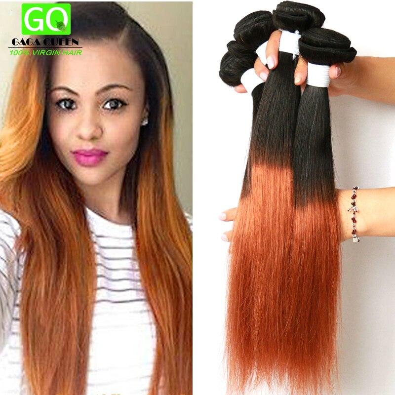 Two Tone Brazilian Weave Hair 7a Brazilian Ombre Hair Straight Unprocessed 3 Bundles Brazilian Ombre Virgin Hair 1B/30 Straight<br><br>Aliexpress