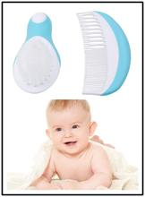 2pcs/Set Newborn Baby Hair Brush Soft Infant Comb Head Scalp Massager Tool Set ABS Baby Kids Hair Care Baby Hair Brush Comb(China)