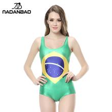New Design Bodysuit Women Swimwear Bathing Suit World Flag Printed Sexy Backless Beach Wear One Piece Swimsuit CYQ1143
