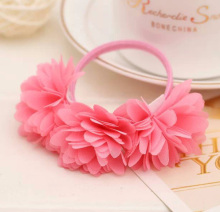 Fashion 1 PC Nice Chiffon Flowers  Girl Rubber Bands Barrettes Headwear Hair Accessories
