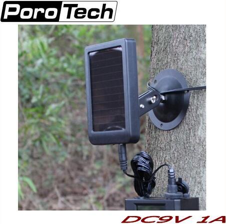 1500mAh Solar Panel Charger EU Plug Battery External Power for Hunting Cameras HC300M Wildlife Scouting Camera<br>