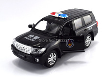 Diecase police car new jiaye 1:32 Pull Back Acousto-optic Alloy Antique police Cars Model children toy in bulk without box-(China)