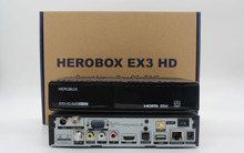 2pcs herobox ex3 hd wifi DVB-S2/T2/C tuner 751MHZ MIPS Processor 256MB Flash 512MB DDR3 Linux OS Support 300M Wifi