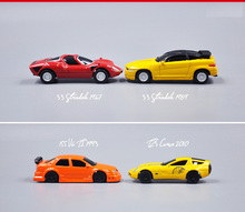 Japan original bulks 6CM mini alloy limousines sportcar classic racing car model Toys children collectible figures