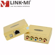 LINK-MI LM-COVSAB Component Video/Stereo Audio Balun Extender Support 720p/1080i/p Up to 500ft/152m Via Cat5e/6 no need power DC(China)