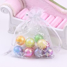 50 pcs/lot Wedding Christmas Gift Candy Jewelry Packaging Bags Small Organza Bags New